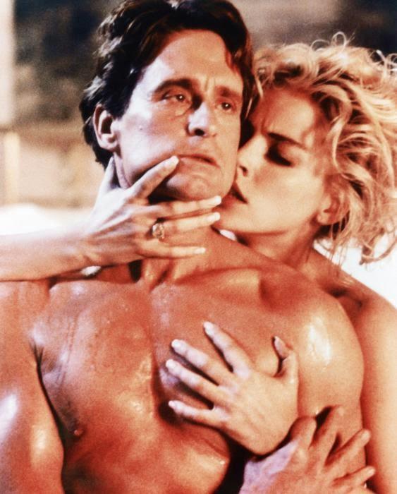 BASIC INSTINCT, from left: Michael Douglas, Sharon Stone, 1992, © TriStar