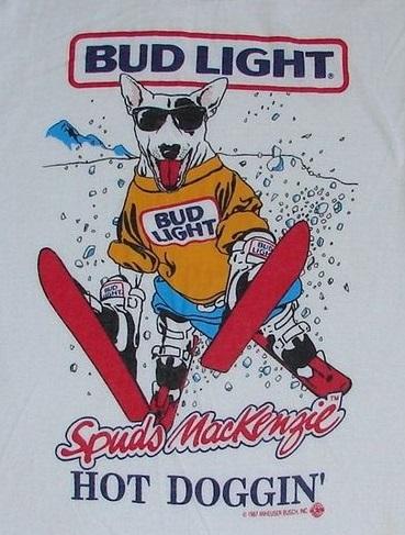 SPUDS_MACKENZIE_Hot_Doggin_Tshirt_1980s