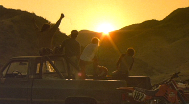 screen shot dirtbike sunset